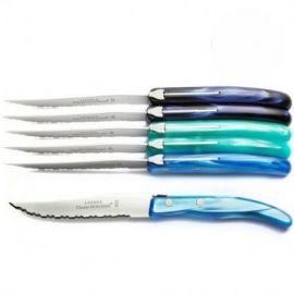 """Coffret 6 couteaux """"bleus..."""