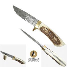 Couteau fixe Damas à manche...